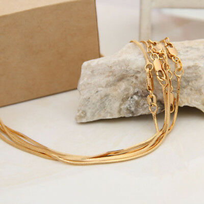 Gold Plated Snake Bone Chain String Distribution Chain Elegant Pendant Unisex