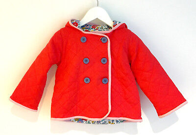 Girls Baby Boden coat, size 18-24mths, bright salmon pink colour, very good cond