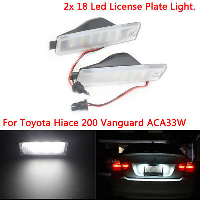 2pcs license plate lamps error free T10 W5W For Toyota Hiace 200 Vanguard ACA33W