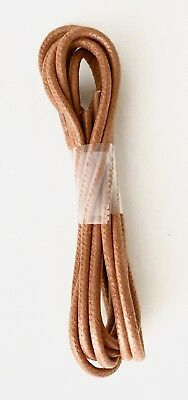 Tan Brown Waxed Shoe Laces Round Dress Business Coloured Shoelaces 2.5mm Mr1421