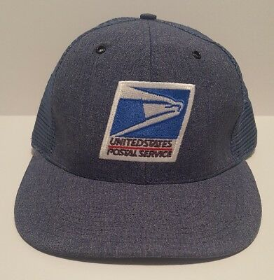 Official Usps Baseball Trucker Hat Cap Us Mail Letter Carrier Cca Snapback Post