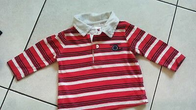 rood wit poloshirt BABY CLUB mt 62
