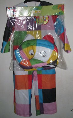 Elmer the Patchwork Elephant Costume - 2-3 years - BNWT & ELMER THE PATCHWORK Elephant Costume - 2-3 years - BNWT - £13.99 ...