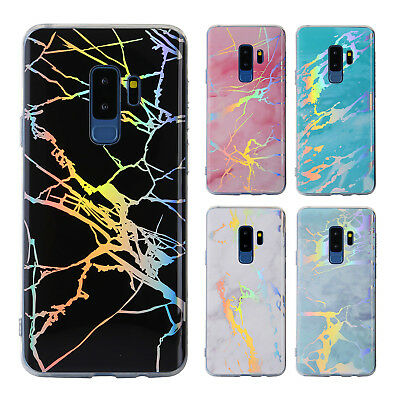 Marble Iridescent Holographic Holo Phone Case For Samsung Galaxy S10 Plus Note 9