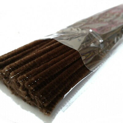 Brown Pipe Cleaners 30cm Plush 6mm Chenille Stems Ideal for Xmas Craft Reindeer