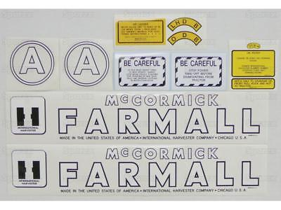 New Farmall Hood Decal Set for Models A