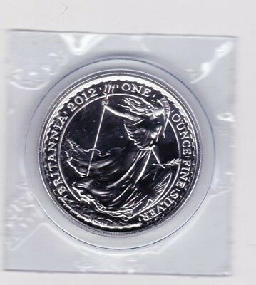 2012 SILVER BRITANNIA COIN PURE SILVER SEALED ROYAL MINT CAPSULE 1Oz