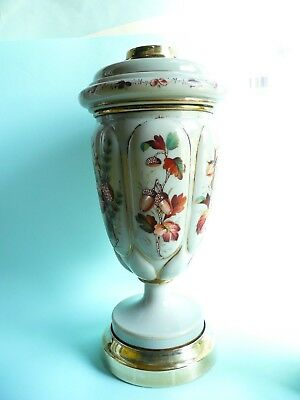 19th century Hinks Glass Oil Lamp Base and Reservoir.....................ref.838