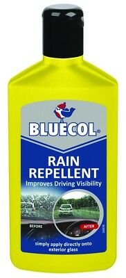 BLUECOL Rain Repellant Glass Cleaner Improves Driving Visibility Valeting 250ml