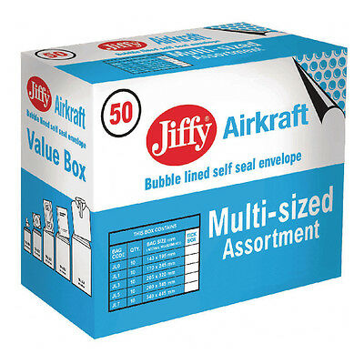 Jiffy Airkraft or Mailer Bulle Envelope 50 Paquet/Tailles 0 1 3 5 7 / Jl-Sel-A