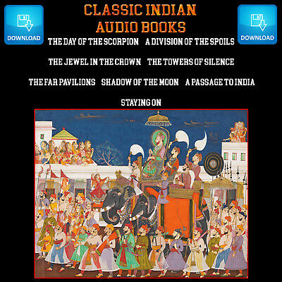 Classic Indian Audio Books ¦ Choose From Eight Titles ¦  mp3 Digital Download