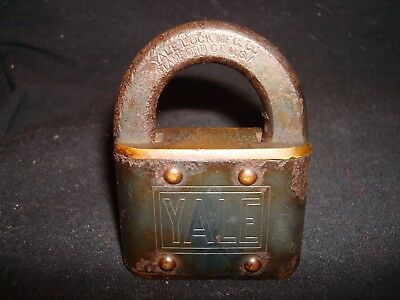 Antique Rare Early Yale Lock Mfg Co Padlock Patented 1879 (Pre Yale & Towne)