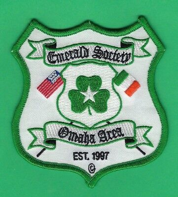 Omaha Area Police Emerald Society Embroidered Patch ~ Very Rare & Hard-To-Find