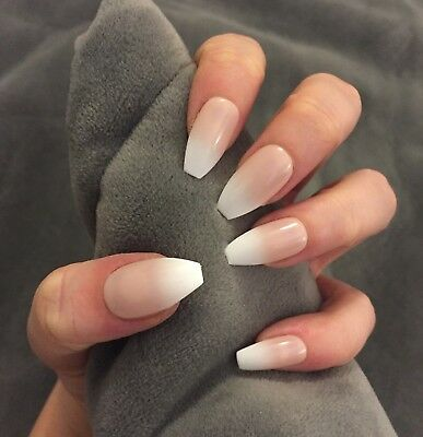 FALSE NAILS - Natural, Tan Ombre, Baby Boomer - Stick On - The Holy Nail