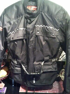 "Weise Vanguard Black Size Small 44"" Chest  Armoured New  Motorbike Jacket"