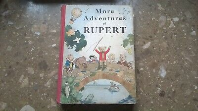 Rupert Annual 1937 Original,more Adventures Of Rupert,by Bestall Alfred