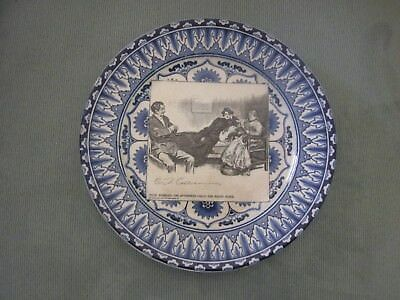 """Royal Doulton Gibson Girl Plate """"Miss Babbles, The Authoress Calls ..."""""""