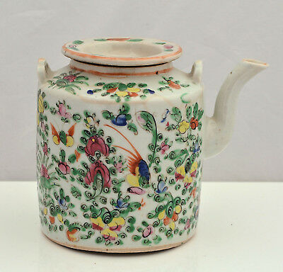 FAMILLE ROSE Chinese Export QING PORCELAIN Teapot C1820