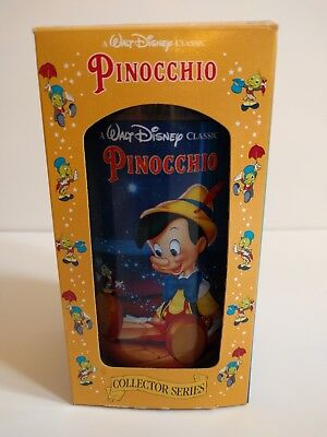 Disney Pinocchio Cup Burger King Collector Series 1994 Vintage Cricket Glass