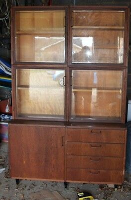 1950's glass fronted dresser cabinet