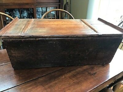 ANTIQUE TABLE TOP  DOUGH BOX 19TH CENTURY some old nails