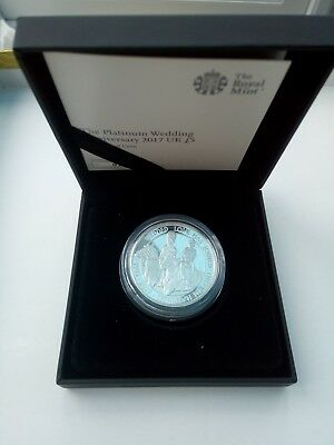 The Queen's Platinum Wedding Anniversary UK Royal Mint Silver Proof £5 Coin 2017