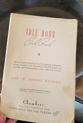 1940 Chambers Stove Cookbook - Idle Hour Cookbook & Oven Canning Guide
