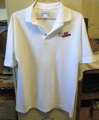Lil Orbits Mini Donuts M Medium Embroidered White Collar Shirt NEW Never Worn