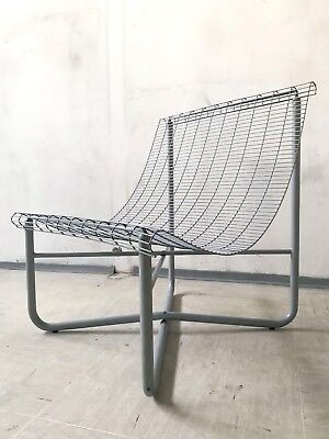 VINTAGE MODERNIST 1980s WIRE MESH CHAIR FOR PATIO GARDEN TERRACE