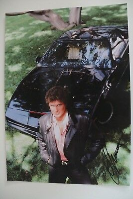 Autogramm David Hasselhoff (Baywatch, Knight) Tv original autograph signed Groß
