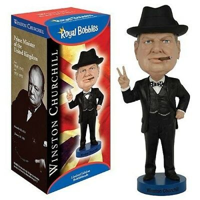 ROYAL BOBBLES Figure Statuette WINSTON CHURCHILL President UK 20cm BOBBLE HEAD
