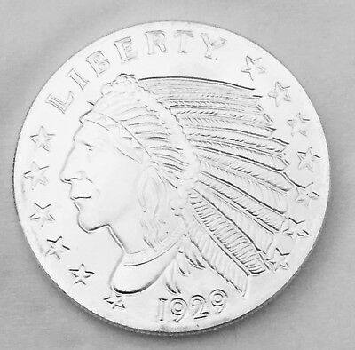 1oz Silver Incuse Indian With Capsule