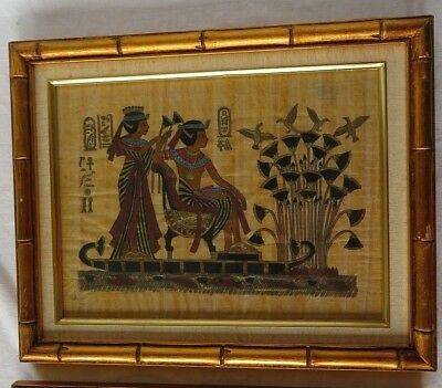 Antique Egyptian Papyrus Pharaon handmade painting Oriental Natural Décor