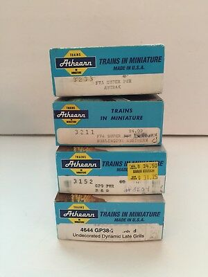 HO Scale - Athearn - Lot of (4) - LOCOMOTIVES - Model Trains - Vintage