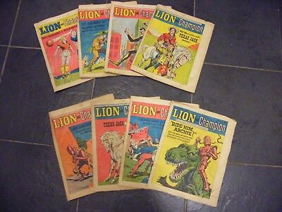 Lion and Champion comic 1967 x 8 comics mostly good read condition