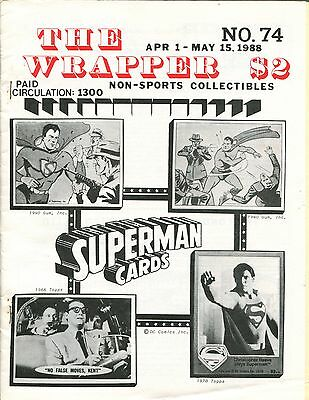 THE WRAPPER No.74  NON-SPORTS CARDS COLLECTIBLES  SUPERMAN PARTRIDGE FAMILY 1988