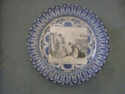 """Royal Doulton Gibson Girl Plate """"She Finds Some Consolation In Her Mirror"""""""