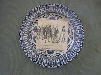 """Royal Doulton Gibson Girl Plate """"She Goes to the Fancy Dress Ball as 'Juliet' """""""