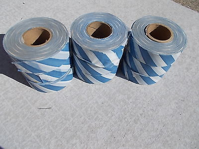Blue and white survey flagging (10 rolls)