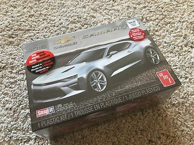 amt 2015 Chevy Camaro SS Coupe 1/25th Scale Plastic Model kit new Sealed Snap IT