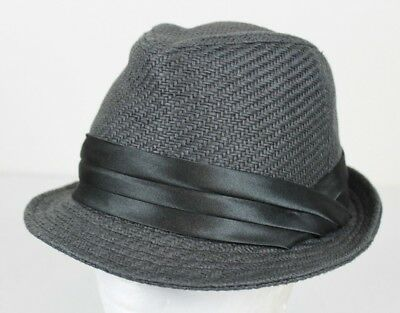 50410244886 Nwt Mens Something Special Black Straw Fedora Hat Cap Lid Size Small Medium  S m