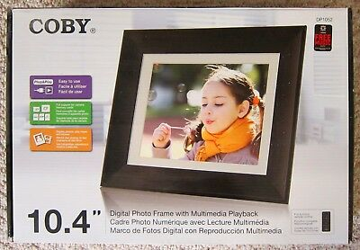 """Coby DP1052 10.4"""" Digital Frame with Multimedia Playback"""