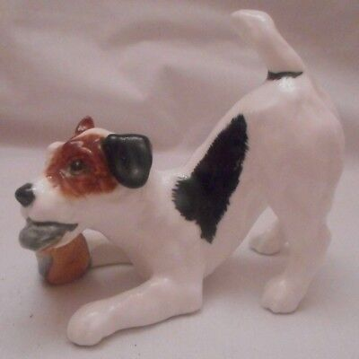 Vintage Royal Doulton Jack Russell Terrier with Slipper - H.N. 2654