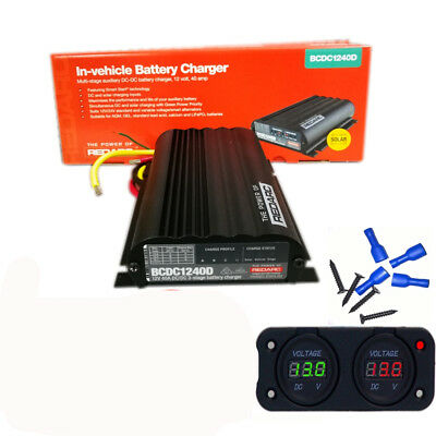 Redarc Bcdc1240D Dual Battery Isolator System Dc To Dc Mppt Solar Agm & Lithium