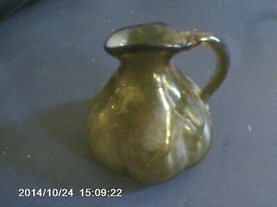 Antique Small Green Pitcher