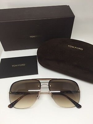 f0ef97ae6d660 Authentic Tom Ford Nils Sunglasses TF 380 Aviator Sunglasses Gold W  Brown  Lens