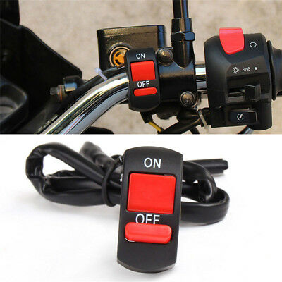Motorcycle Handlebar light On Off Switch Waterproof ATV Headlight Fog Spot 12V