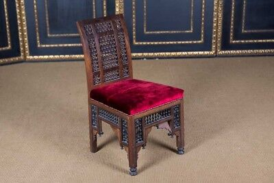 Oriental Chair with Inlays Marrakech Um 1900