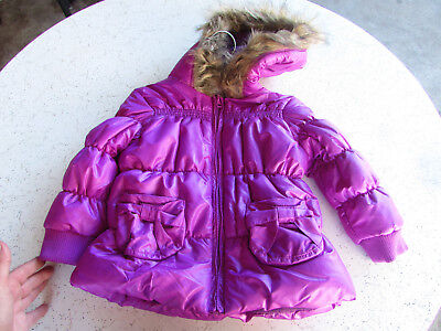 New Baby Girl Size 2 Puff Jacket Boutique Range with Pockets and Hoodie
