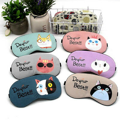 Cartoon Sleeping Mask Eye Patch Cover Blindfold Eyeshade Massage Relaxing New